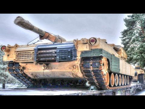 US Tanks Reach Poland for Anti-Russian Aggression NATO Military Exercise