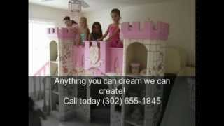 Girls Canopy Beds| Kids Playhouses| Childrens Beds| Girls Furniture| Unique Kids Rooms