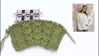 How to knit the textured pattern in DROPS 194-5