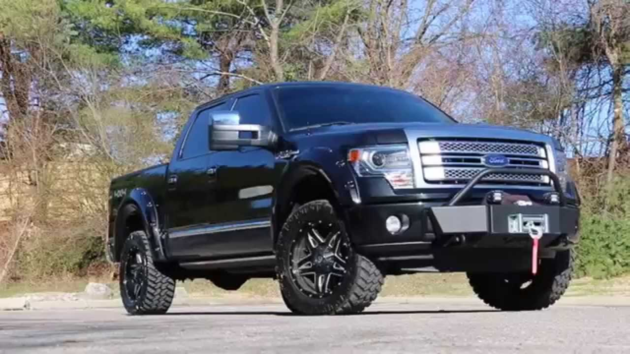 "Ford F150 Platinum Lifted >> Customized 2013 F150 Platinum Walk Around Review - Wheels Tires 2"" Level Flares Bumpers Winch ..."