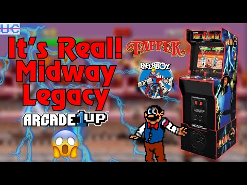 BREAKING: Midway Legacy Cabinet from Arcade1up with Tapper, Paperboy, MK Trilogy and More! from Unqualified Critics