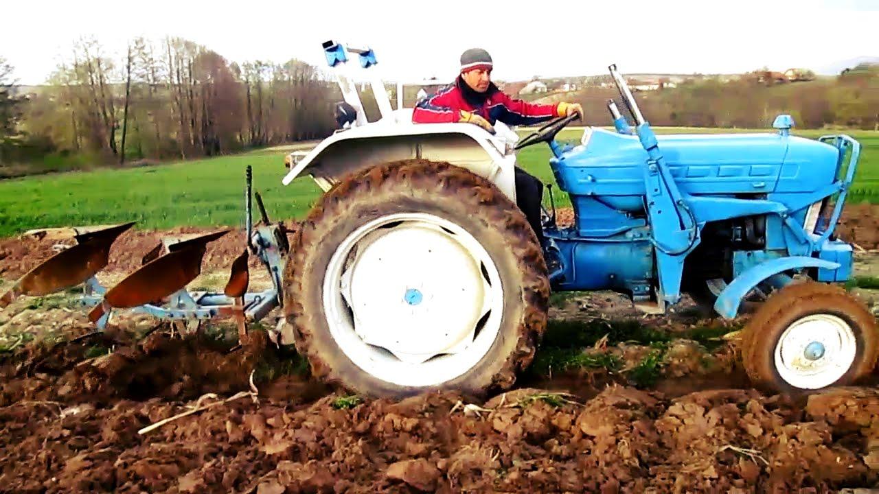 Ford 4000 Plow : Ford lemken plow youtube