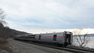 "Amtrak LSLs [48 & 49] w/ Viewliner II Baggages ""Meet"" @ New Hamburg"