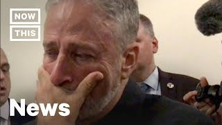 Jon Stewart Breaks Down Over Gift From 9/11 First Responders | NowThis