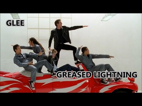 Glee-Greased Lightning (Lyrics/Letra)
