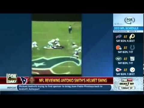 NFL Antonio Smith Helmet Swing VIDEO