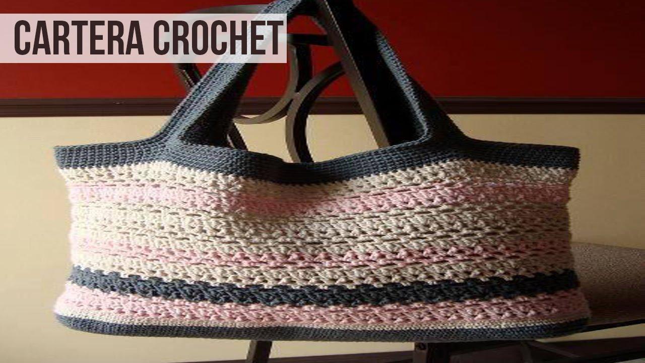 Hermosas Carteras Tejidas En Crochet Full Dise 241 Os Youtube