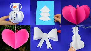 Awesome Christmas craft ideas with paper easy and simple. Home decoration DIY