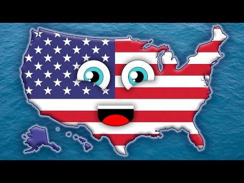 Map Of North America 50 States.50 States Song For Kids 50 States And Capitals For Children Usa 50 States