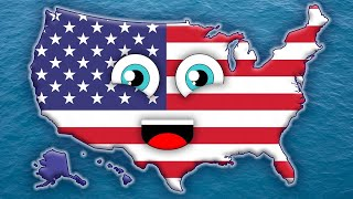 50 States Song for Kids/50 States and Capitals for Children/USA 50 States Free HD Video