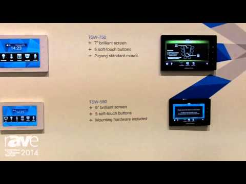 ISE 2014: Crestron Presents TSD and TSW Range of Touch Panels and Universal Mounting Bracket