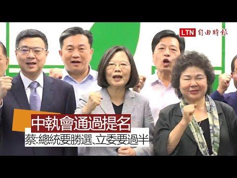 民進黨中執會通過提名 蔡英文:全力完成2020大選責任、一定當選