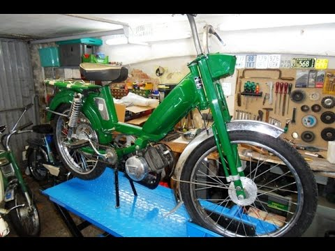 Neuzugang in der garage peugeot 103 d moped bj 76 youtube for Garage peugeot 76
