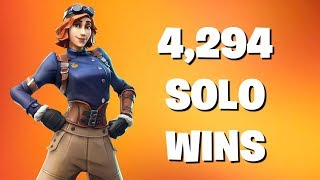 4,294 SOLO WINS FORTNITE BATTLE ROYALE LIVE   LEARNING CUSTOM BUTTON CONFIG