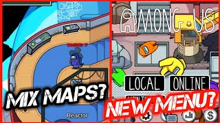 How To Combine Mąps & Change The Main Menu Glitch! Among Us   Airship Map Update Bugs