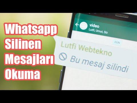 %100 Çalışıyor: Whatsapp'ta Herkesten Silinen Mesajları Okumanın Yolu!