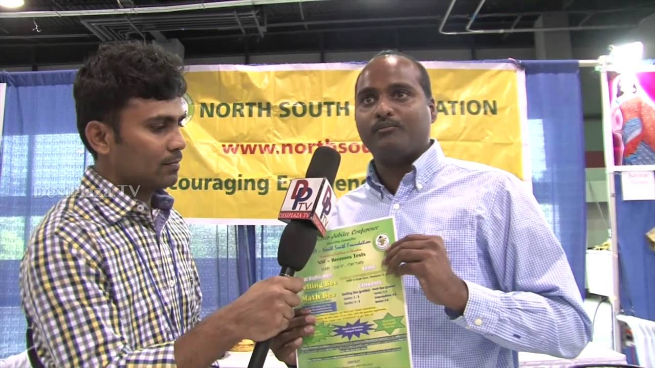 Representatives from North South Foundation  speaking to Desiplaza TV at ATA Convention 2016.