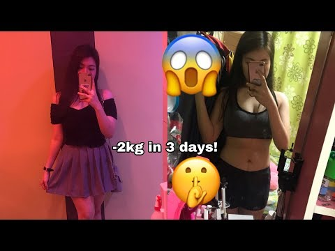HOW TO LOSE 2KG IN JUST 3 DAYS WITHOUT EXERCISE/SUPPLEMENTS | MEAL PLAN INCLUDED  | Angel Raighn