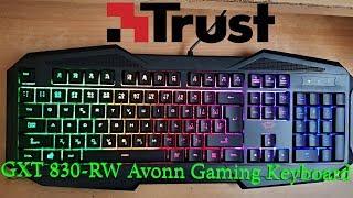 fc9629a776d Trust GXT 830 RW Avonn Gaming Keyboard (SK/CZ) - Unboxing ...
