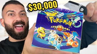 Unboxing The $30,000 LEGEΝDARY 20 Year Old Pokemon Cards