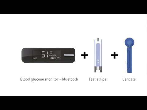 Blood glucose monitor + test strips + lancets