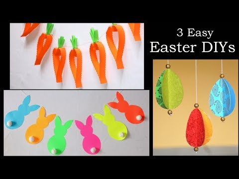 3 Easy Easter DIYs | Paper Decorations | Paper Crafts