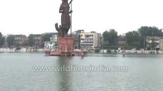 Gujarat - Baroda city establishing shot