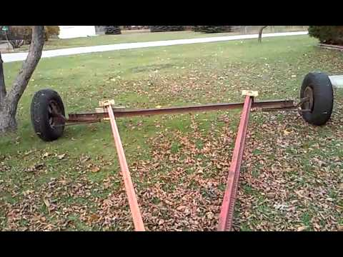 Shed moving axle completed youtube for How to move a building