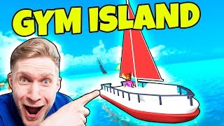 FITNESS CENTER BÅDEN! - Dansk Roblox: Gym Island #2