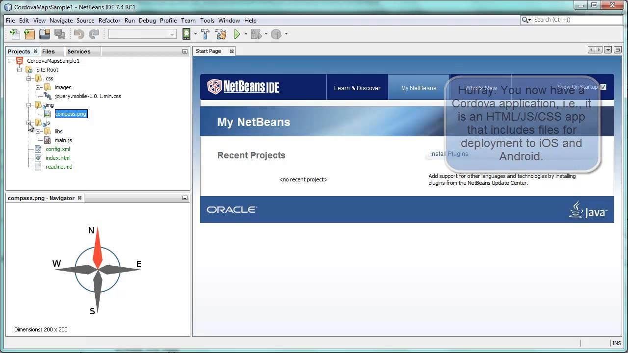 Getting Started with Cordova in NetBeans IDE