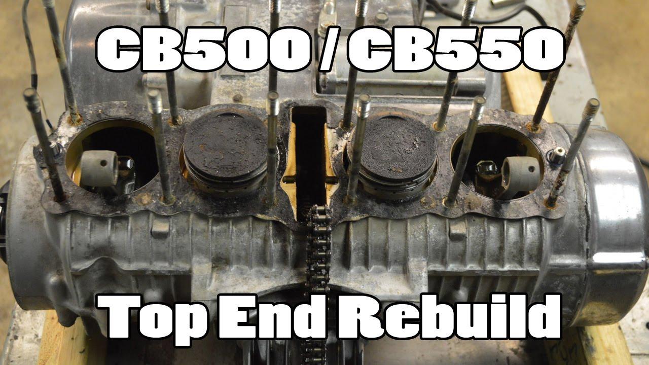How-To: Honda CB500 CB550 Top End Rebuild – How-To