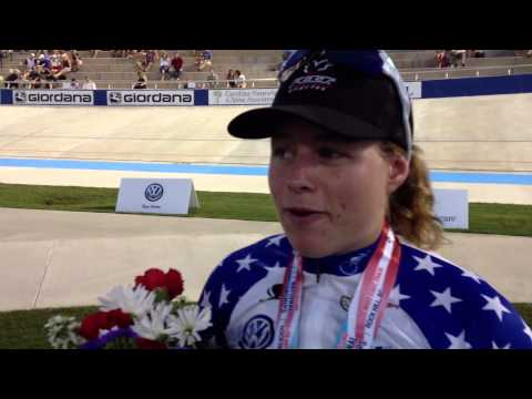 Jennifer Valente 2013 women's scratch race national champion