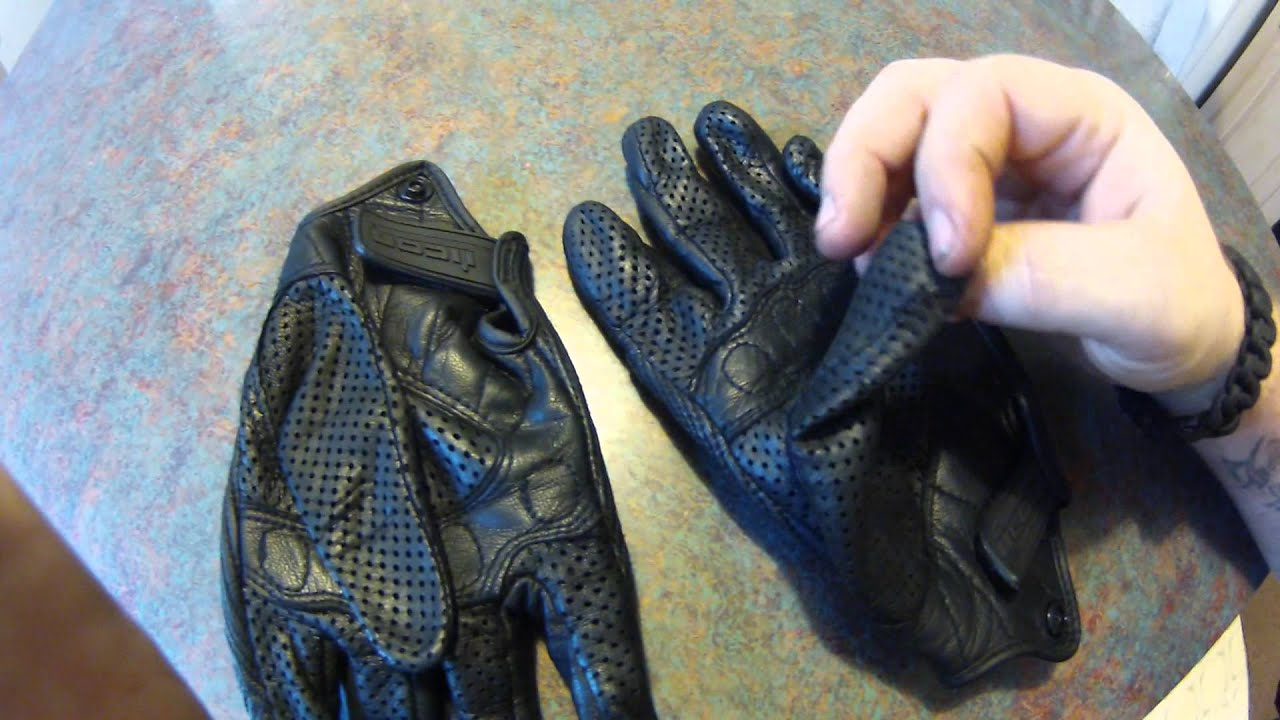 Icon justice leather motorcycle gloves - Icon Justice Leather Motorcycle Gloves