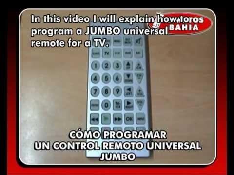 HOW TO PROGRAM A JUMBO UNIVERSAL REMOTE CONTROL QUANTUM FX REM-115 REMOTOS BAHIA