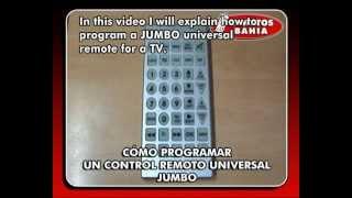 HOW TO PROGRAM A JUMBO UNIVERSAL REMOTE CONTROL QUANTUM FX REM-114 REMOTOS BAHIA