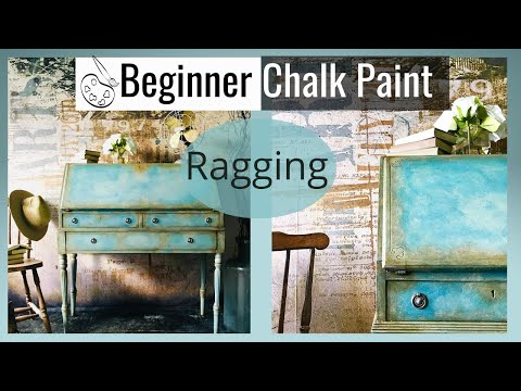 How to Chalk Paint a Ragging effect for a Vintage Old World look using Annie Sloan's chalk paint