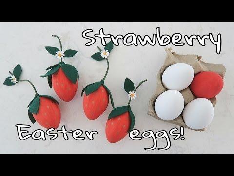 DIY Strawberry Easter Eggs!