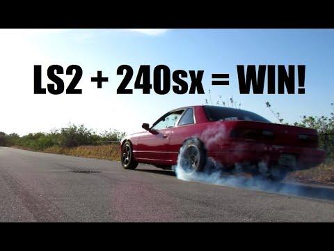 LS2 240sx So Much Torque!