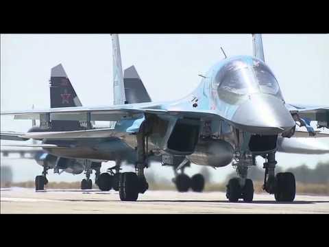 Опубликовано видео вылета российских СУ-34 из Сирии