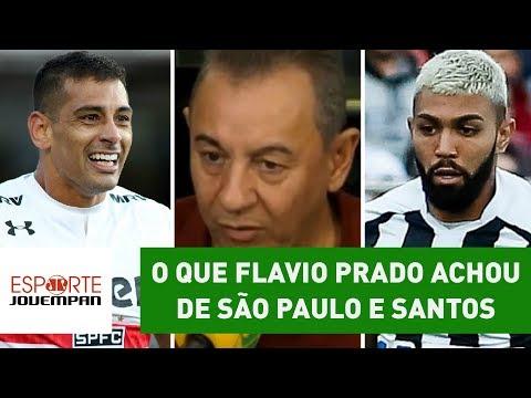 Lixo? OLHA o que Flavio Prado achou de São Paulo 1 x 0 Santos!