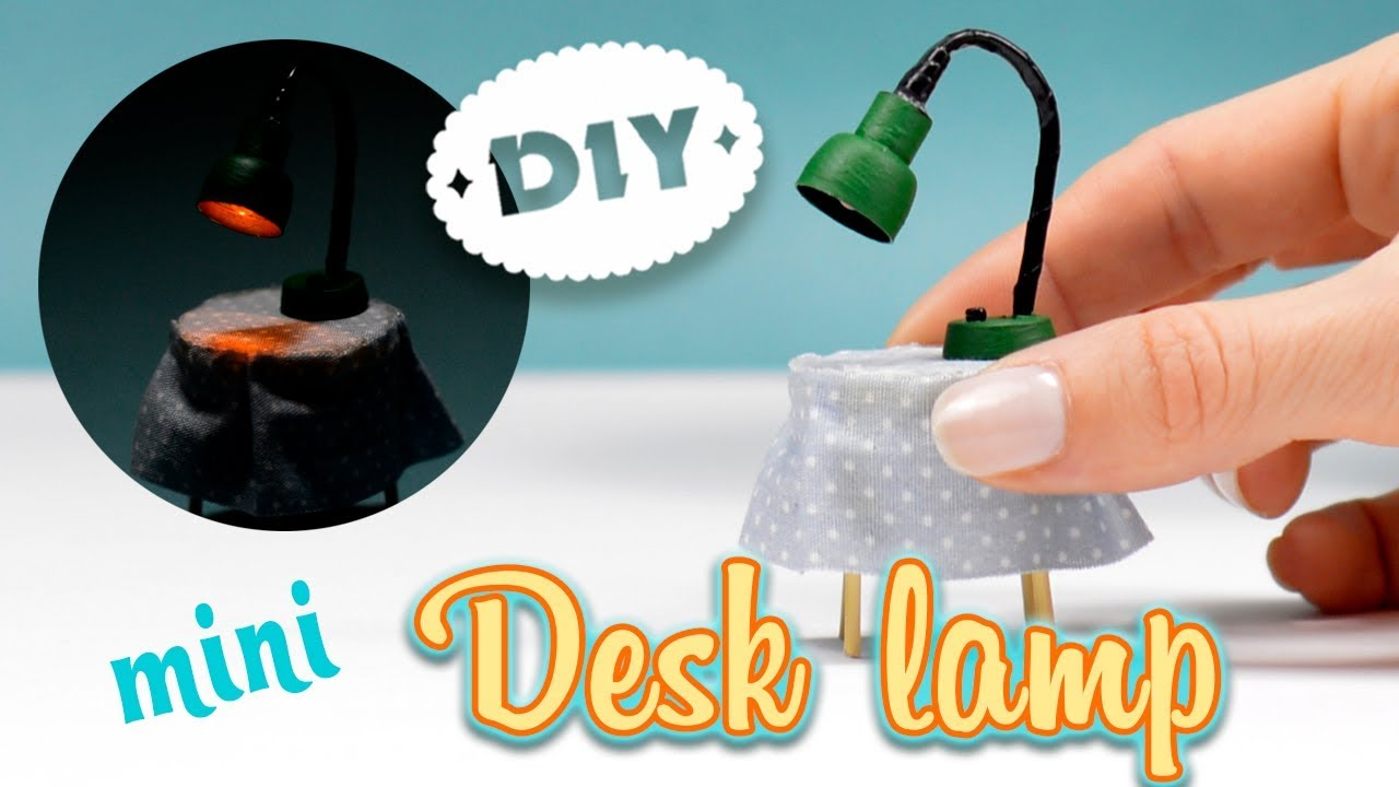 Mini Desk Lamp How To Make A Miniature Light With Headphones Dollhouse Diy