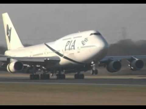 Thumbnail: PIA Boeing 747-300 landing perfect must watch it amazing