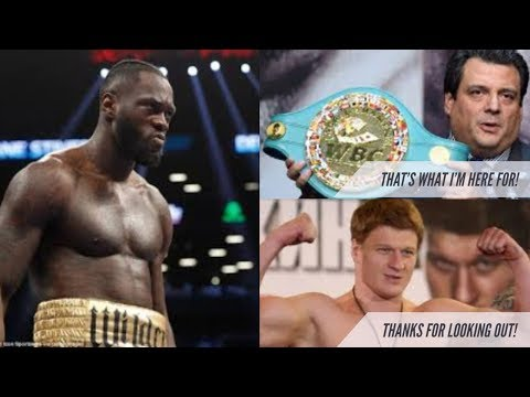 TRUTH ABOUT DEONTAY WILDER, POVETKIN AND $4.5 MILLION JUDGEMENT |  THE WBC LOOPHOLES DO IT AGAIN