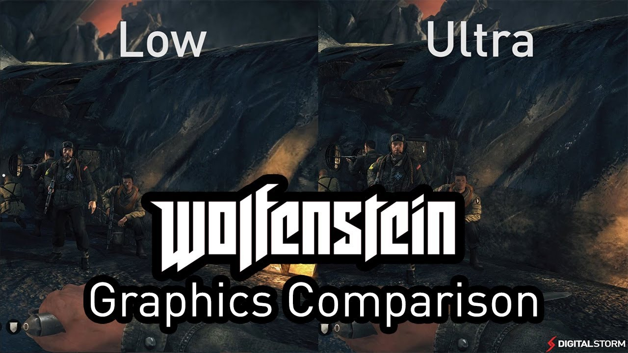 Wolfenstein: The New Order Graphics Comparison - Ultra to Low