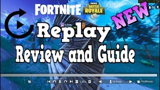 Fortnite NEW 3.5 Patch - How To Use New Replay Full Review And Guide