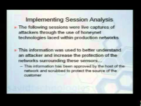 DEFCON 15: Analyzing Intrusions & Intruders