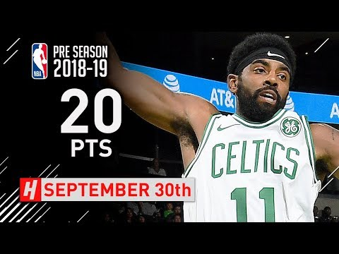 Kyrie Irving Full Highlights Celtics vs Hornets 2018.09.30 - 20 Points, 4 Ast in 3 Qtrs!