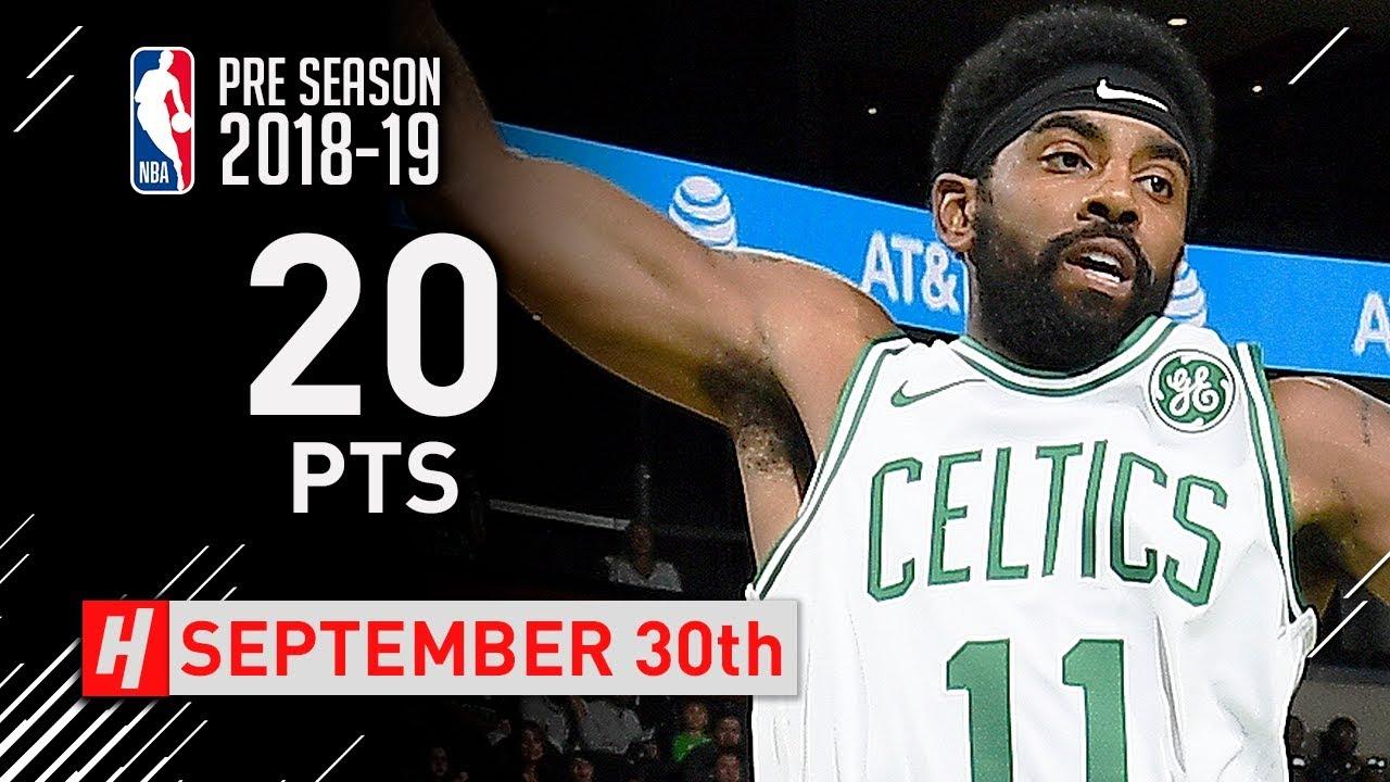 Kyrie Irving Full Highlights Celtics vs Hornets 2018.09.30 - 20 Points a17d1456e