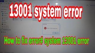 How to fix edius 6 error 13001  system error