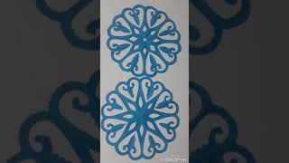 How to make simpal and easy paper cutting flower designs/DIY tutorial by step by  step